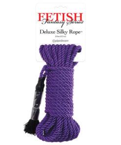 Fetish Fantasy Series Deluxe Silky Rope - Purple Bondage Rope - 9.75 m Length