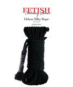Fetish Fantasy Series Deluxe Silky Rope - Black Bondage Rope - 9.75 m Length
