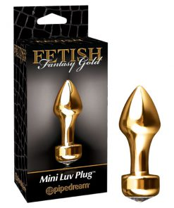 Fetish Fantasy Gold Mini Luv Plug - Gold 8.25 cm (3.25'') Butt Plug