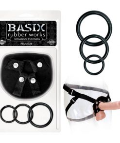 Basix Rubber Works Universal Harness - Plus Size - Black Plus-Size Strap-On Harness (No Probe Included)