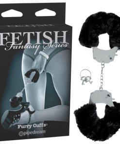 Fetish Fantasy Series Limited Edition Furry Cuffs - Black Furry Cuffs