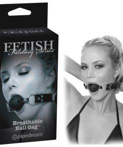 Fetish Fantasy Series Limited Edition Breathable Ball Gag - Black Ball Gag