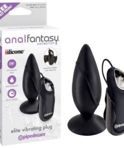 Anal Fantasy Collection Elite Vibrating Plug - Black 9.5 cm (3.5'') Vibrating Butt Plug