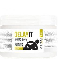 Pharmquests Delay It - Water Based Male Delay Gel - 500 ml Tub