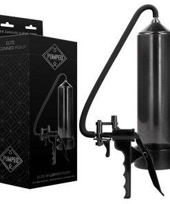 Pumped Elite Beginner Pump - Black Penis Pump with Trigger