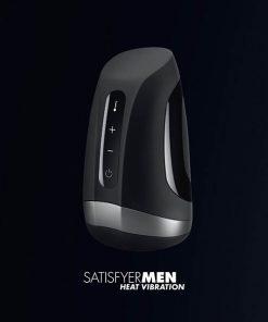 Satisfyer Men Heat Vibration - Black USB Rechargeable Masturbator