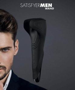 Satisfyer Men Wand - Black USB Rechargeable Vibrating Masturbator Wand