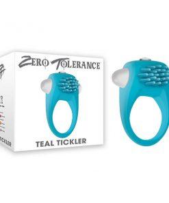 Zero Tolerance Teal Tickler - Teal Vibrating Cock Ring