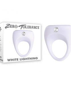 Zero Tolerance White Lightning - White Vibrating Cock Ring