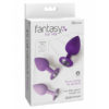 Fantasy For Her Little Gems Trainer Set - Purple Butt Plugs with Jewel Bases - Set of 3 Sizes