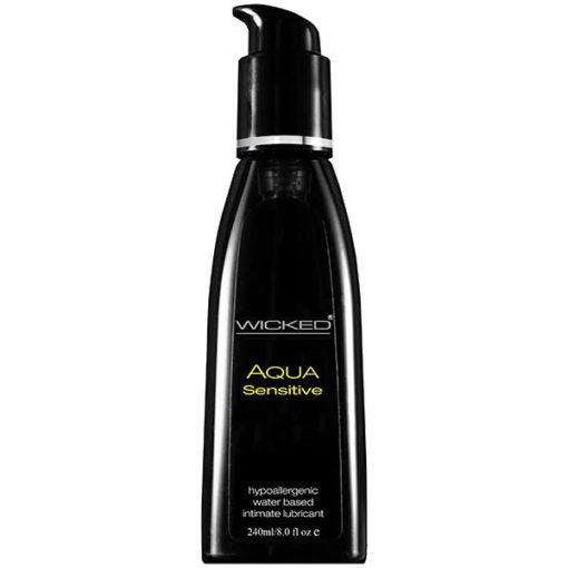 Wicked Aqua Sensitive - Water Based Lubricant - 240 ml (8 oz) Bottle
