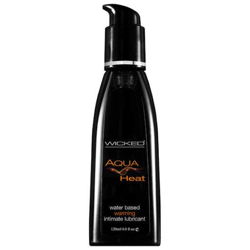 Wicked Aqua Heat - Warming Water Based Lubricant - 120 ml (4 oz) Bottle