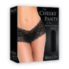 Adam & Eve Cheeky Panty with Rechargeable Bullet - Black Vibrating Panty - Fits AUS Sizes 6-16