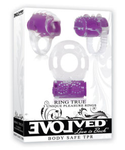 Ring True Unique Pleasure Rings - Clear Vibrating Rings - Set of 3
