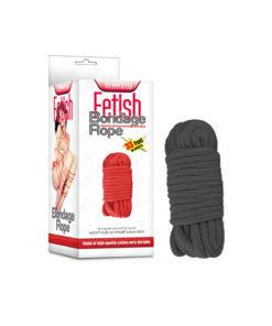 Fetish Bondage Rope - Black - 10 m Length