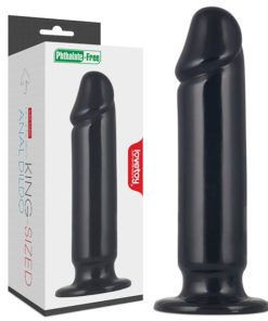 King Sized 9.25'' Anal Dildo - Black 23.5 cm Mega Anal Dong