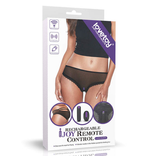 IJOY Rechargeable Remote Control Vibrating Panties - Black USB Rechargeable Vibrating Panties