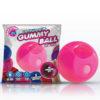 Rock Candy Gummy Ball - Bubblegum Pink Disposable Finger Stimulator
