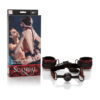 Scandal Breathable Ball Gag with Cuffs - Black/Red Restraint Kit