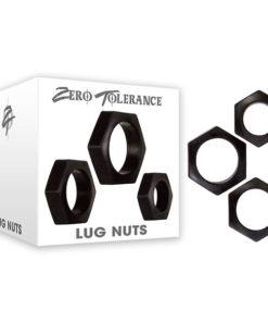Zero Tolerance Lug Nuts - Black Cock Rings - Set of 3
