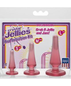 Crystal Jellies Anal Initiation Kit - Pink Butt Plugs - Set of 3 Sizes