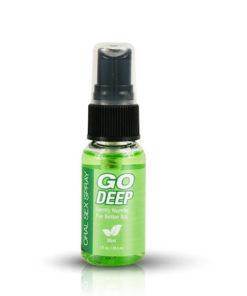 Go Deep Oral Sex Spray - Mint Flavoured Desensitising Oral Spray - 29 ml (1 oz) Spray