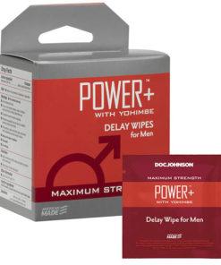 Power+ - Delay Wipes for Men - 10 Pack