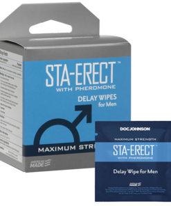 Sta-Erect - Delay Wipes for Men - 10 Pack