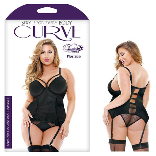 Curve Odessa Cutout Molded Cup Bustier - Black - 1X/2X Size