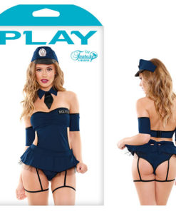 Play Miss Demeanor Police Costume Set - Blue - S/M Size