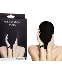 Ouch Subjugation Mask - Black Hood Mask