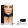 Ouch! Luxury Collar with Leash - Black Restraint