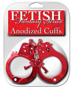 Fetish Fantasy Series Anodized Cuffs - Red Metal Restraints