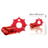 Crossbones - The Pleasure Web - Red Cock Ring with 2 Vibrating Bullets