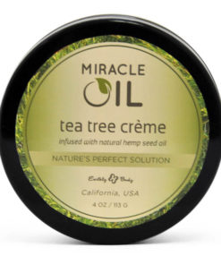 Miracle Oil Tea Tree Creme - Skin Soothing Cream with Hemp Seed Oil - 113 g Tub