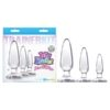 Jelly Rancher Trainer Kit - Clear Butt Plugs - Set of 3 Sizes