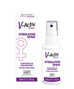 HOT V-activ Stimulation Spray - Enhancer Spray for Women - 50 ml Bottle