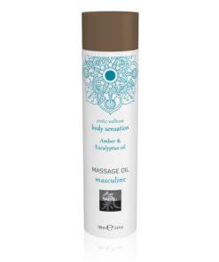 SHIATSU Massage Oil - Masculine - Amber & Eucalyptus Oil Scented - 100 ml