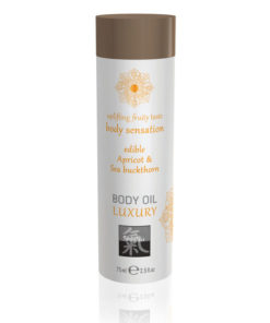 SHIATSU Edible Body Oil - Luxury - Apricot & Sea Buckthorn Flavoured - 75 ml