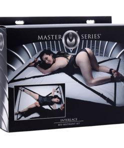 Master Series Interlace Bed Restraint Set - Bed Restraints