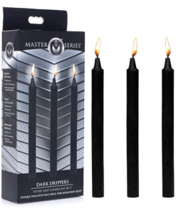 Master Series Fetish Drip Candles - Black - 3 Pack