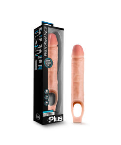 Performance Plus 10'' Silicone Cock Sheath Penis Extender - Flesh 3.8 cm (1.5'') Penis Extender Sleeve