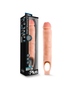Performance Plus 11.5'' Silicone Cock Sheath Penis Extender - Flesh 6.4 cm (2.5'') Penis Extender Sleeve