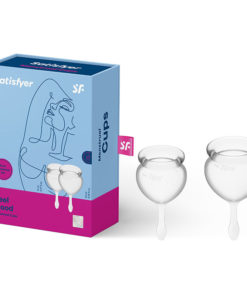 Satisfyer Feel Good - Clear Silicone Menstrual Cups - Set of 2