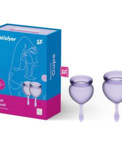 Satisfyer Feel Good - Lilla Purple Silicone Menstrual Cups - Set of 2