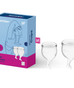 Satisfyer Feel Secure - Clear Silicone Menstrual Cups - Set of 2