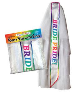 Bride Pride Veil - White Novelty Veil