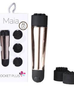Maia Pocket Plus - Gold USB Rechargeble Mini Massager Wand