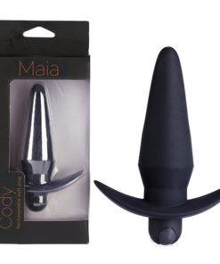 Maia Cody - Black 12.4 cm USB Rechargeable Butt Plug