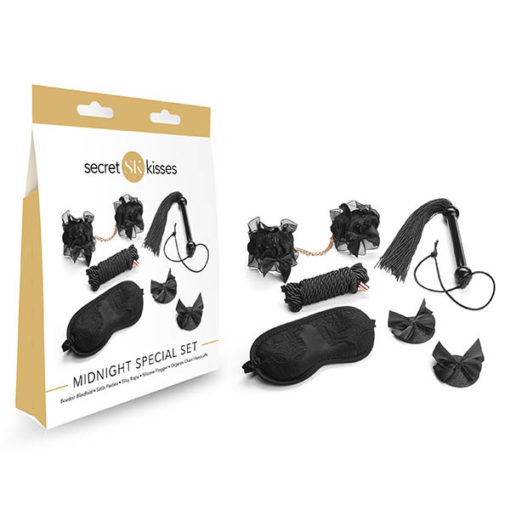 Secret Kisses Midnight Special Set - 5 Piece Bondage Kit